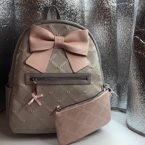 Betsey Johnson backpack/w Wristlet